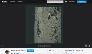 Foto-Mondfahrt bei Flickr: Tausende hochauflösende Fotos der Apollo-Missionen als Fotogallerie