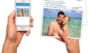 App macht Fotos zu Urlaubspostkarten
