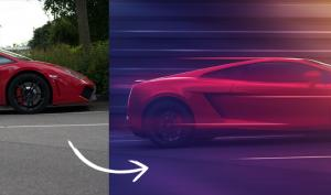 So erzeugen Sie dynamische Autobilder mit Photoshop