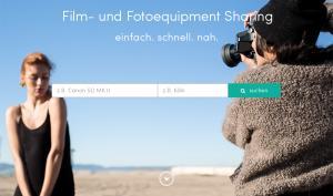 gearo: Sharing-Plattform für Film-und Fotoequipment