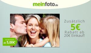Günstige Fotoprodukte von meinfoto.de - Jetzt 5 Euro Rabatt sichern