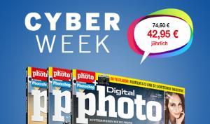 Jetzt bis zu 55% sparen! DigitalPHOTO und CanonFoto Abos im Cyber Week Angebot