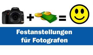 Geld verdienen mit Fotografie - ohne Risiko der Selbstständigkeit!
