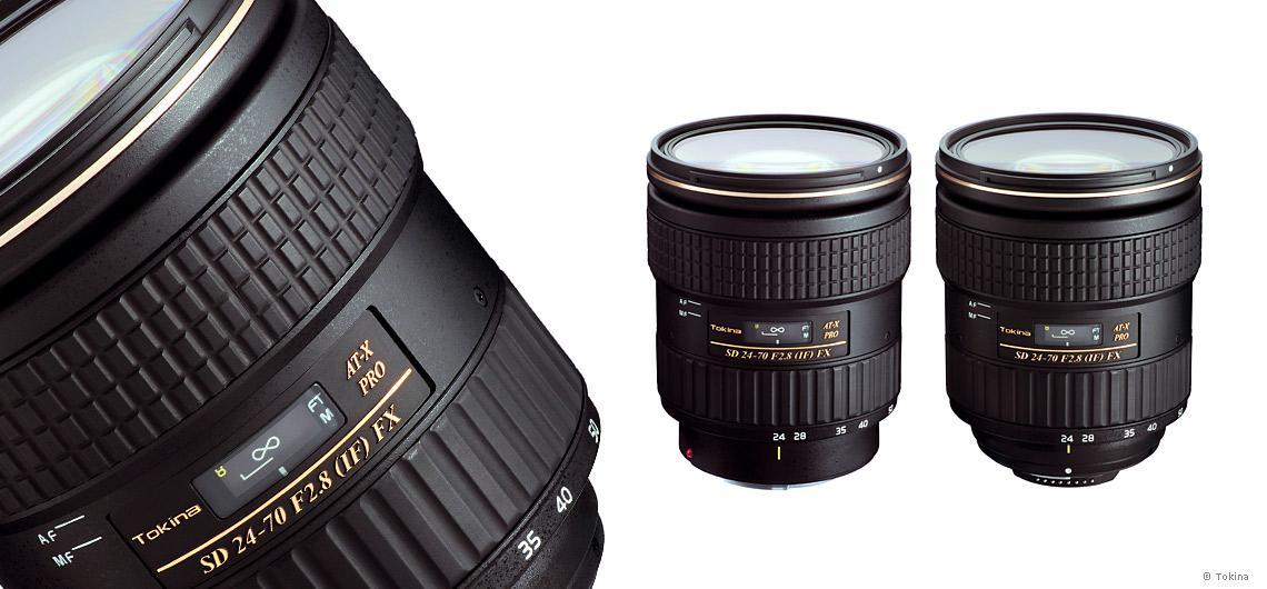 Standardzoom Tokina AT-X 24-70mm F/2.8 Pro FX für Nikon und Canon ...