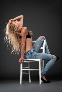 Blonde in Blue Jeans