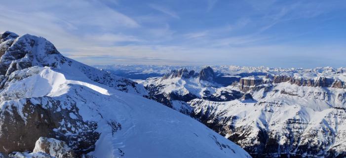 Alpenpanorama von der Marmolada