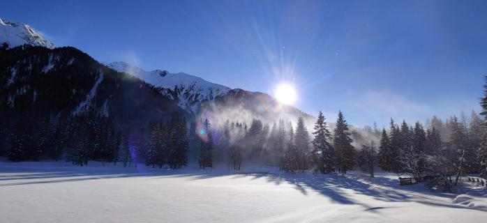 Winterlandschaft am Antholzer See