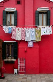 Waschtag auf der Insel Burano