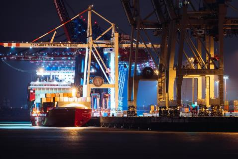 Inside Port of Hamburg