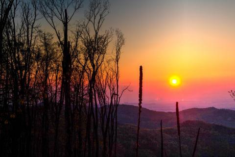 Sonnenaufgang am Höllenstein