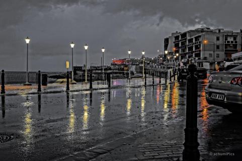 Straße im Regen I