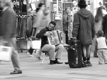 Straßenmusiker in Wien