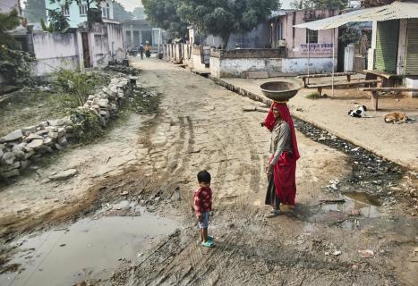 im indischen Dorf
