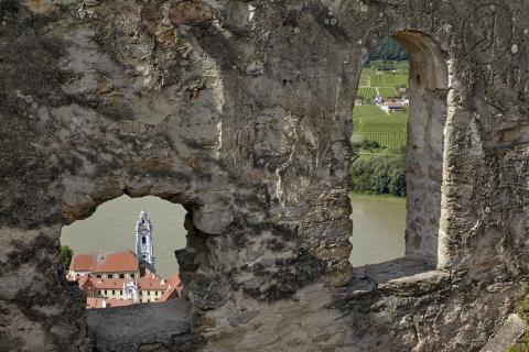 Blick von der Ruine auf Dürnstein