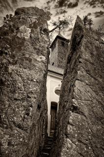 Klobenstein mit Wallfahrtskirche bei Kössen in Tirol