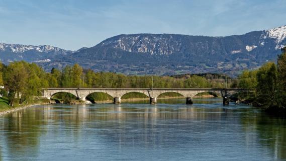 Eisenbahnbrücke über Inn