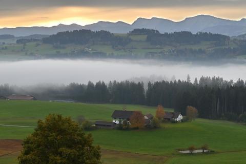 Sonnenaufgang im Westallgäu