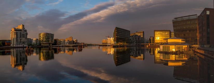 Sonnenaufgang in Kopenhagen