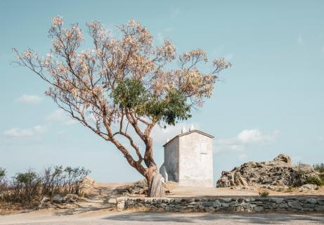 An einer Landstraße auf Korsika