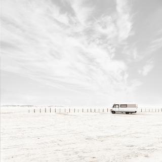 Wohnmobil am Strand von St. Peter-Ording