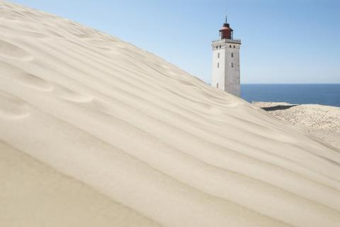 Der weiße Leuchtturm von Rubjerg Knude