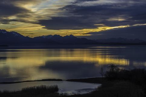 Abendlicht am Chiemsee