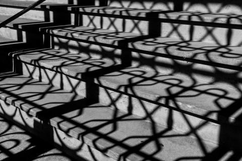 Treppe im Sonnenlicht