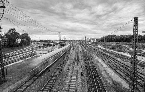 Bahnhof mit Zug