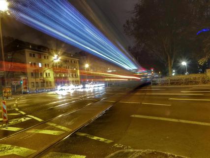 Langzeitbelichtung U-Bahn