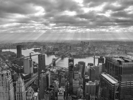 Sonnenstrahlen über NYC