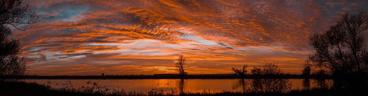 Panorama Sonnenuntergang