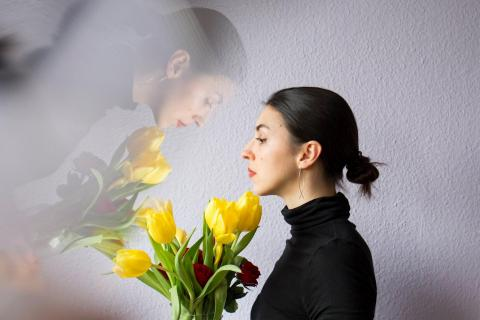 portrait with prism