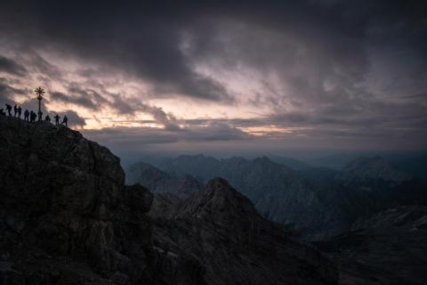 Zugspitze zum Sonnenuntergang