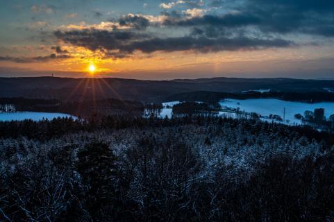 Sonnenuntergang über dem Teutoburger