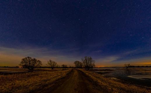 Irgendwo in Wendland bei Nacht
