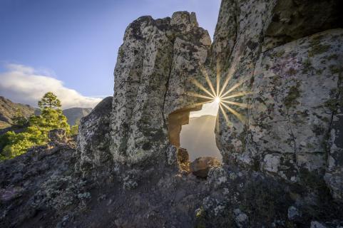 Sternstunde zum Sonnenaufgang auf La Gomera