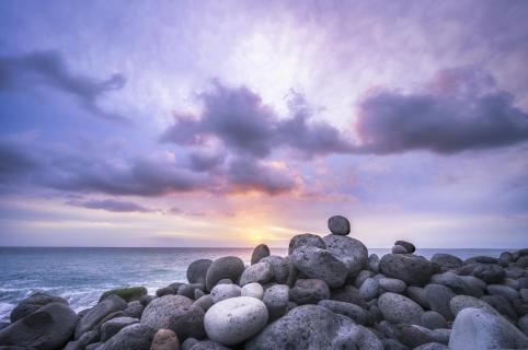 Farbenfroher Sonnenuntergang auf La Palma