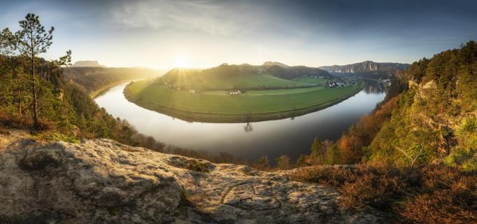 Panorama an der Elbschleife