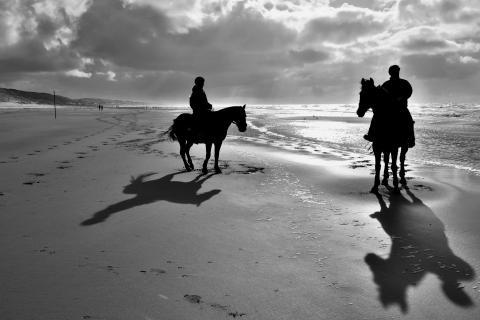 Reiter am Nordseestrand