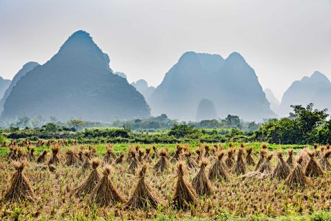 Karstlandschaft in Südchina