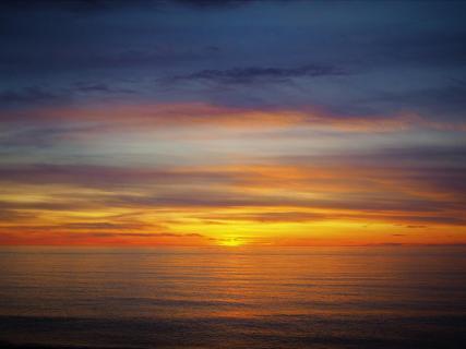 wenn die Sonne im Meer versinkt..