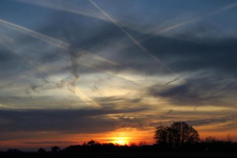 vernarbter Sonnenaufgang
