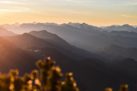 Morgenrot über dem Alpen