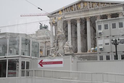 Bau. Stelle Parlament (Wien)
