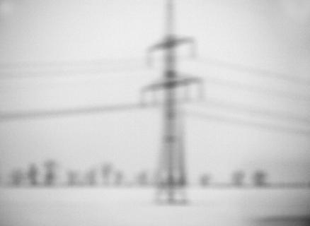 Nebelfoto Teleraphenleitung ICE - Landschaft