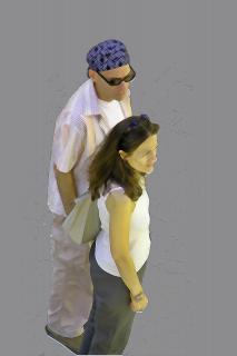 Paar in Fußgängerzone