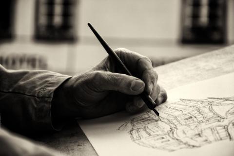 Des Künstlers Hand