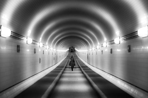 walk in the tunnel