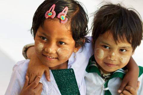Nach der Schule in Myanmar
