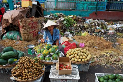 Marktveräuferin in Saigon, Vietnam